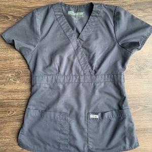 Grey's Anatomy Scrub Top | Gray | XS